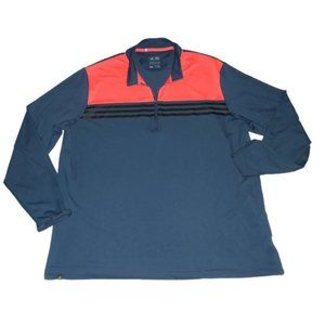 Adidas Climacool 1/4 Zip Blue Orange Black Shirt